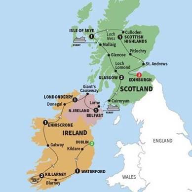 15 Day Best Of Scotland And Ireland Trafalgar Shamrock Travel