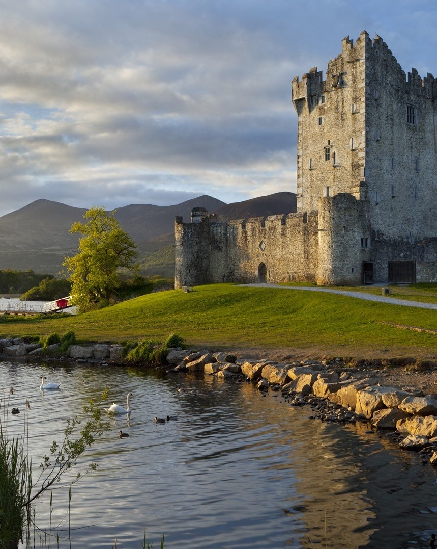Ireland-hill-grass-path-stones-river-lake-ship-swans-forest-bricks-Shamrock-Tours